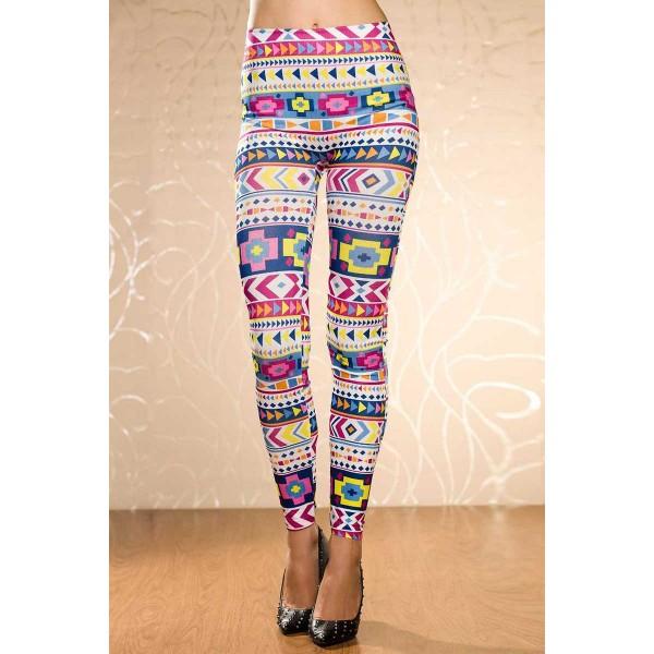Legging Tribal colore aztec Azteque leggings skinny colorful printed ref-02