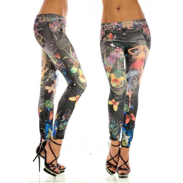 Legging azteque colore aztec tribal leggings skinny colorful printed ref-10