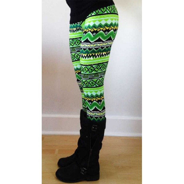 Legging azteque colore aztec tribal leggings skinny colorful printed ref-14