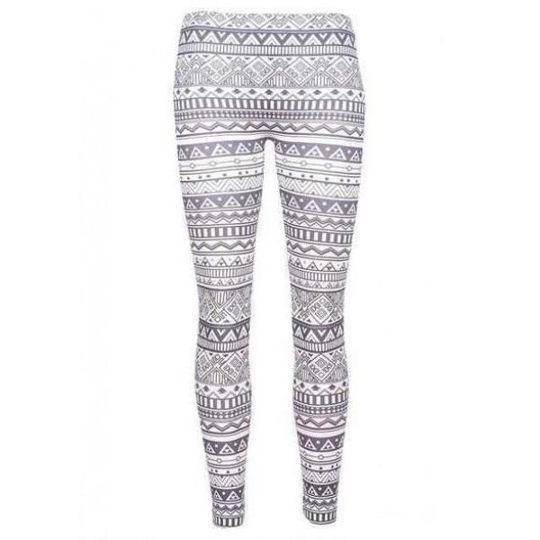Legging azteque colore aztec tribal leggings skinny colorful printed ref-15