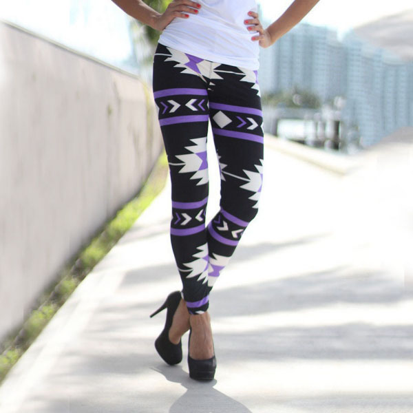 Legging azteque colore aztec tribal leggings skinny colorful printed ref-19