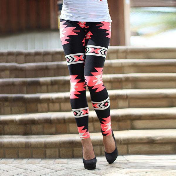 Legging azteque colore aztec tribal leggings skinny colorful printed ref-20