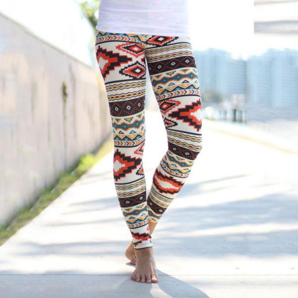 Legging Azteque colore aztec tribal leggings skinny colorful printed ref-17