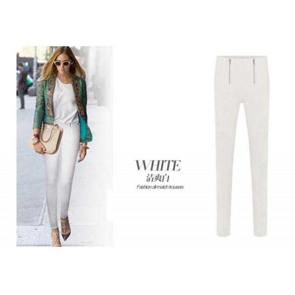 Legging blanc white leggings pant skinny fashion ref-01