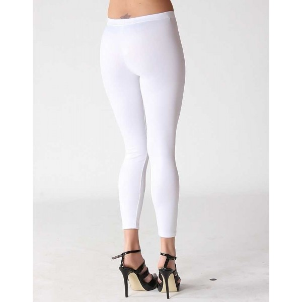 Legging blanc white leggings pant skinny fashion ref-03