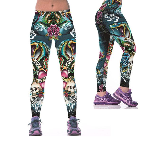 Legging imprime fantaisie motif original leggings printed Tattoo ref-06