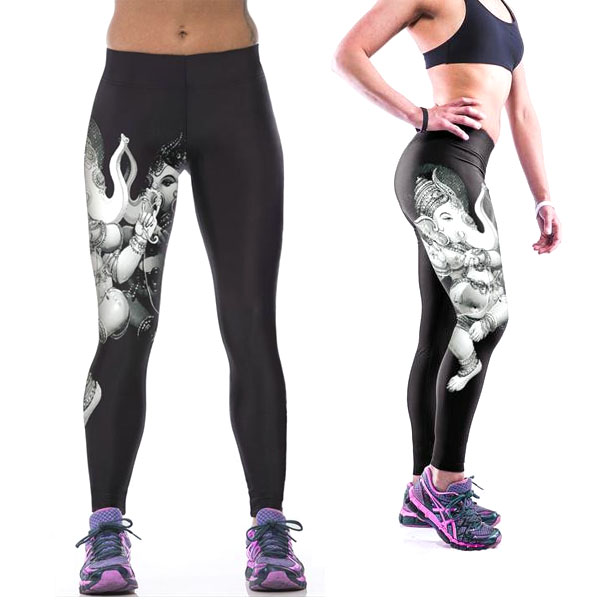Legging imprime fantaisie motif leggings printed Yoga Goddess ref-09