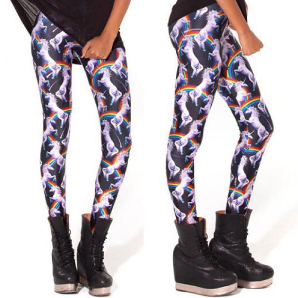 Legging punk grunge fantasy pop leggings skinny sexy unicorn licorne printed ref-09