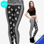 Legging punk grunge Latino Paisley pop leggings skinny sexy printed ref-11