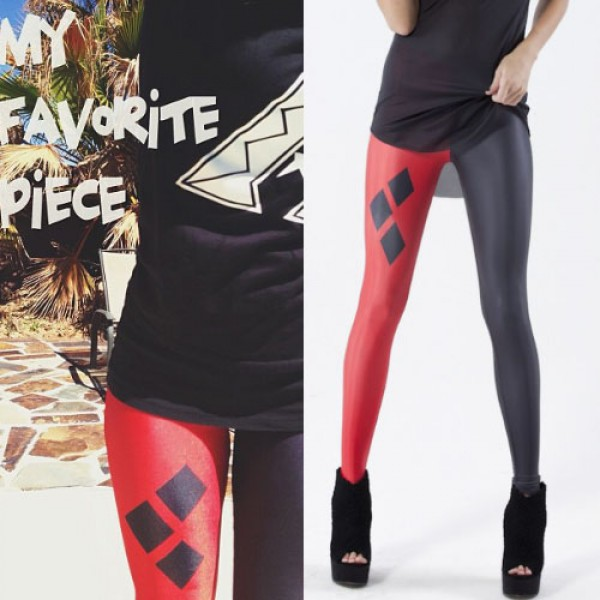 Legging punk grunge leggings skinny play poker print printed ref-02