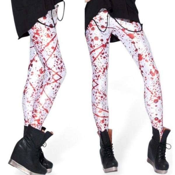 Legging punk grunge pop leggings skinny sexy blood sang taches printed ref-06