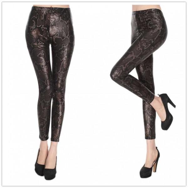 Legging serpent peau snake skin leggings sexy fashion ref-01