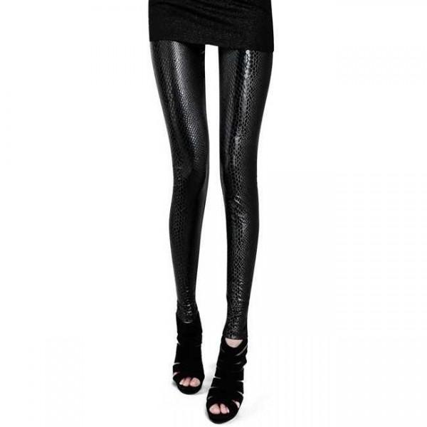 Legging serpent peau snake skin leggings sexy fashion ref-02