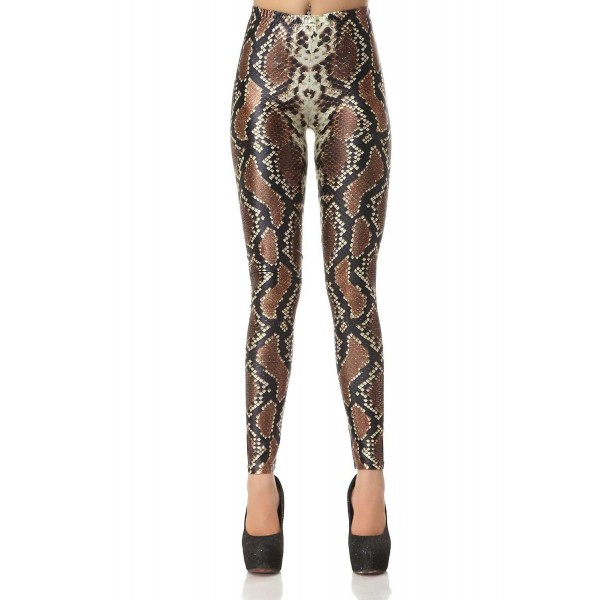 Legging serpent peau snake skin leggings sexy fashion ref-05