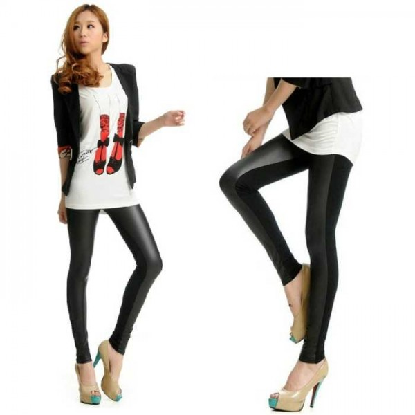 Legging simili cuir faux leather leggings sexy fashion pu ref-02