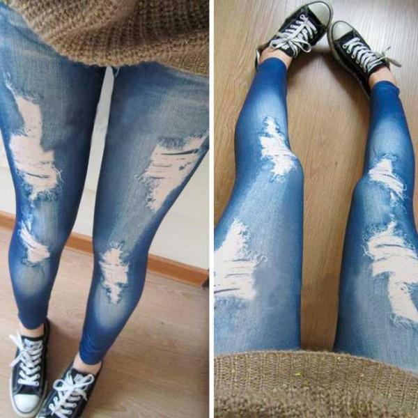 Legging troue dechire destroy ripped leggings sexy fashion ref-01