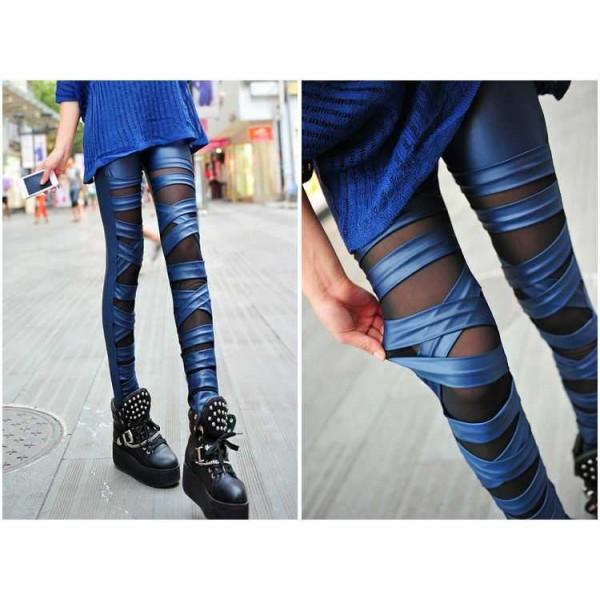 Legging troue dechire destroy ripped leggings sexy fashion ref-12