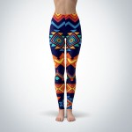 Legging Sport Sculpture Fitness Design Aztec 1