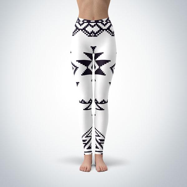 Legging Sport Sculpture Fitness Design Aztec 3