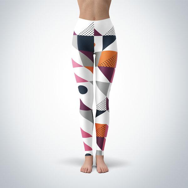 Legging Sport Sculpture Fitness Design Geometric 12