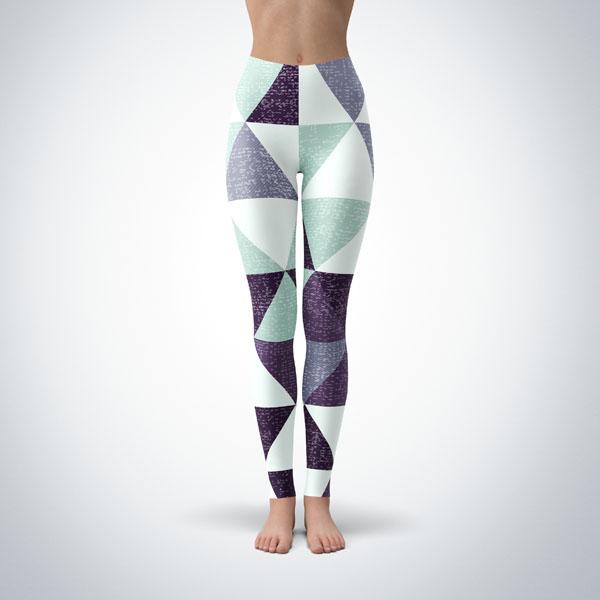 Legging Sport Sculpture Fitness Design Geometric 13