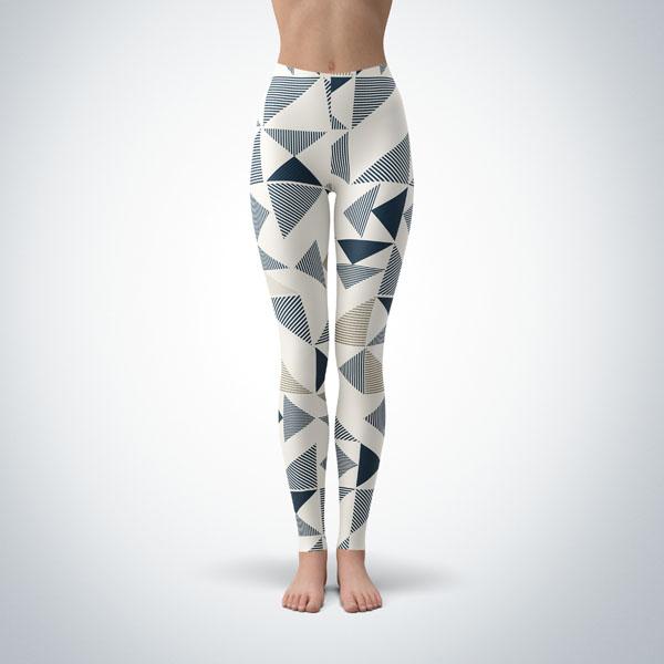 Legging Sport Sculpture Fitness Design Geometric 4