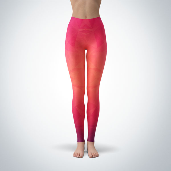 Legging Sport Sculpture Fitness Design Geometric 6