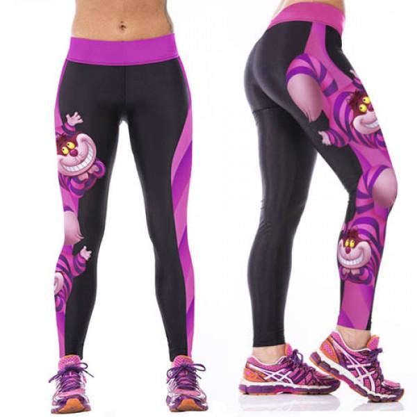 Legging imprime fantaisie Chat Alice Pays des Merveilles leggings Sport ref-14