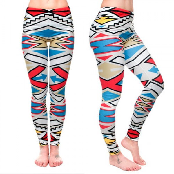 Legging azteque colore Aztec Tribal Colors Pop Sport Fashion ref-22