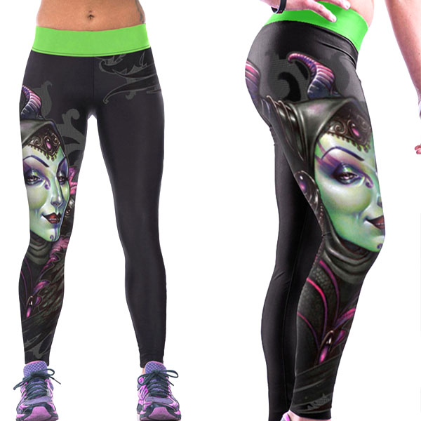 Legging imprime fantaisie Maleficient leggings Sport ref-21