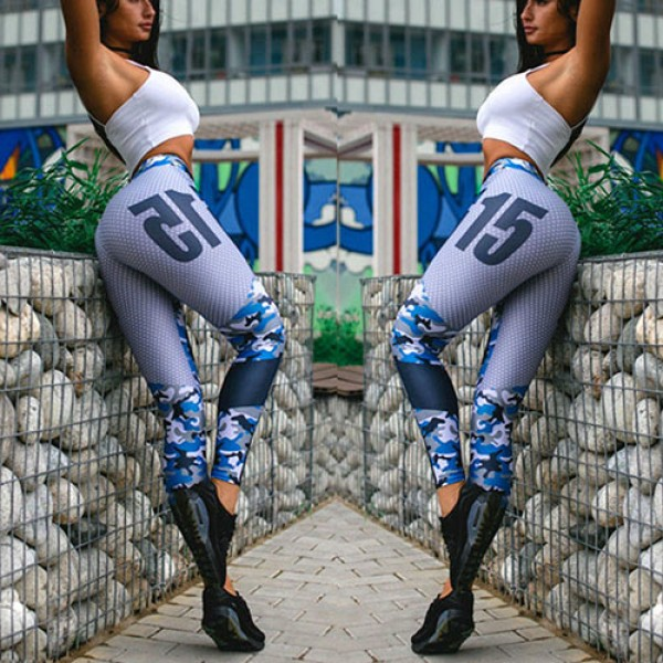 Legging fitness Sport Squat leggings sexy Blue workout ref-20