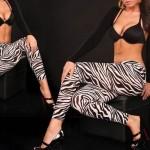 Legging imprime Zebre Noir et Blanc leggings printed ref-17