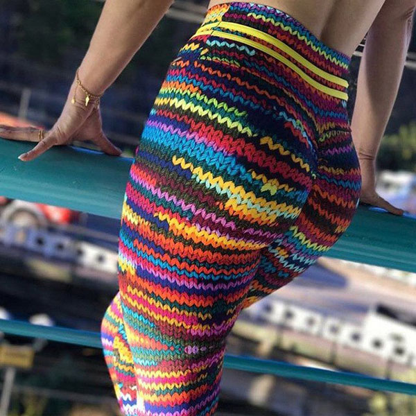 Legging imprime Maille crochet Colore sexy Workout ref-20
