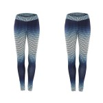 Legging fitness Sport Squat Workout Musculation 3d Bleu ref-26
