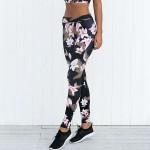 Legging imprime Tropical Floral Yoga Pant Workout Elegant ref-19