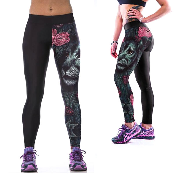 limited guantity premium selection latest Legging imprime fantaisie motif original leggings printed Lion ref-10