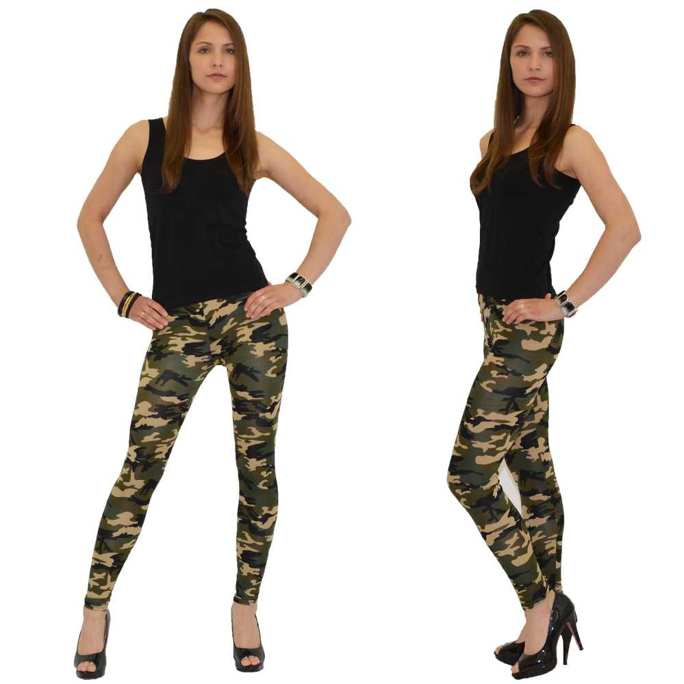 Legging Militaire Leggings Military Camouflage Sexy Fashion Ref 06